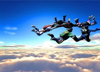 「极限挑战」-千米高空双人跳伞